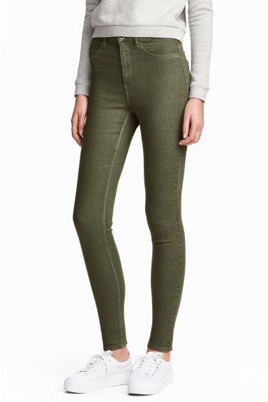Super Skinny High Jeans - Vert kaki - FEMME | H&M FR