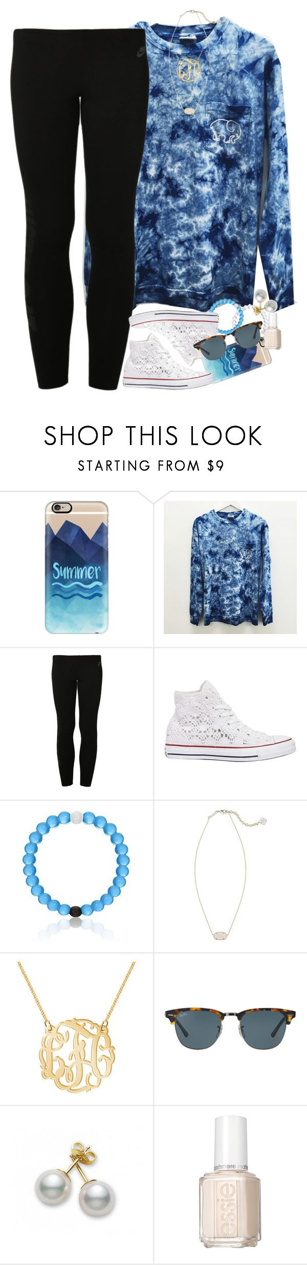 """""""save the elephants"""" by smbprep ❤ liked on Polyvore featuring Casetify, NIKE, Converse, Kendra Scott, Ray-Ban, Mikimoto, Essie, SavetheElephants and Ivoryella"""