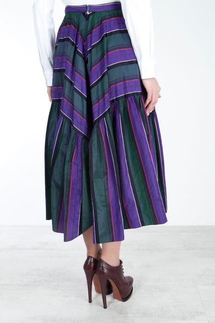 Шелковая юбка 80е Chanel Vintage - Винтажная юбка Chanel 80-х годов актуальна и сегодня в интернет-магазине модной дизайнерской и брендовой одежды