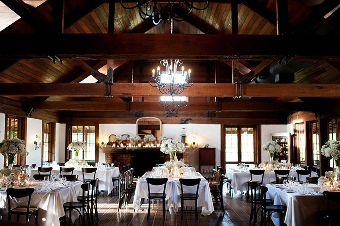 Square tables for wedding reception inside Roberts Hunter Valley | PHOTO CREDIT: Tealily Photography -> @Trish
