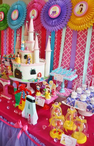 Fiesta cumplea os princesas disney decoraci n e ideas for Decoracion cumpleanos princesas