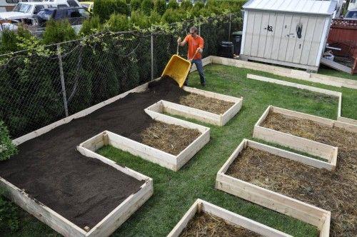 Farm Glance: Norm's simple raised-bed lasagna garden