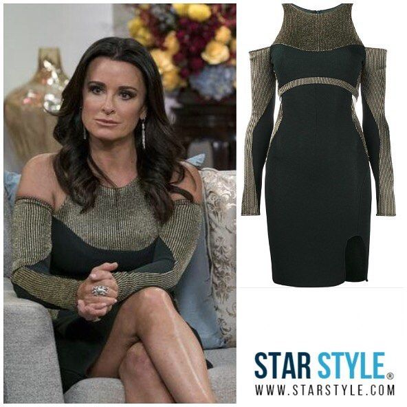 Kyle Richards wore an Esteban Cortazar dress on The Real Housewives of Beverly Hills reunion  Shopping info at www.starstyle.com