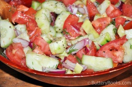 Hungarian Tomato Cucumber Salad Recipe