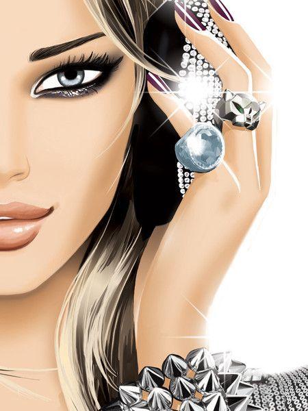 Fashionable DJ Girl ~ by Jason Brooks