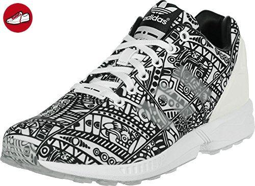 Adidas Wmn ZX Flux White Black Print Größe: 4(36?) Farbe: White - Adidas sneaker (*Partner-Link)
