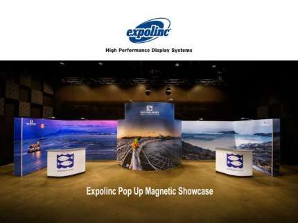 Amazing designs of #Expolinc Pop Up Magnetic. No tools or special labor for setup. 80 examples in e-book! Over 80 real life examples of the Expolinc Pop Up Magnetic system. See amazing things you can do and no tools needed for setup!