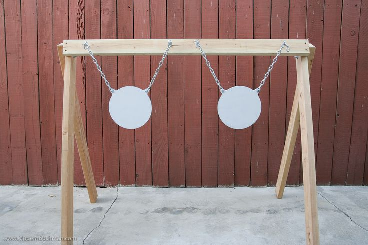 Step 5:  space your hooks so that the targets hang evenly across