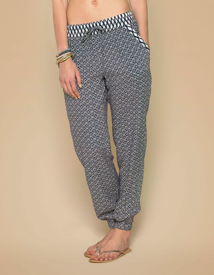 Essouaria Patch Print Trousers