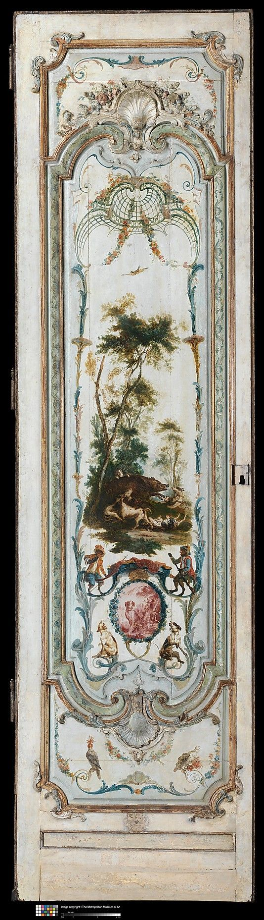 Door panel Manner of Christophe Hüet (French, Pontoise 1700–1759 Paris)