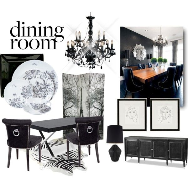 Black Dining Room, created by youaresofashion on Polyvore