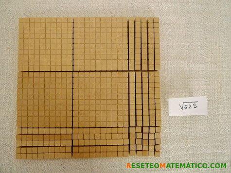Cálculo de la raiz cuadrada de 625 con Base 10. #Base10 #raiz_cuadrada
