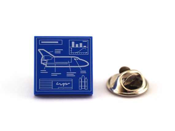 Space Shuttle Vehicle Blueprint Tie Pin Tie Tack Pin by Pinhero