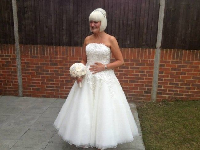 Justin alexander 8465 size 12 wedding dress tea length for Wedding dresses for sale by owner