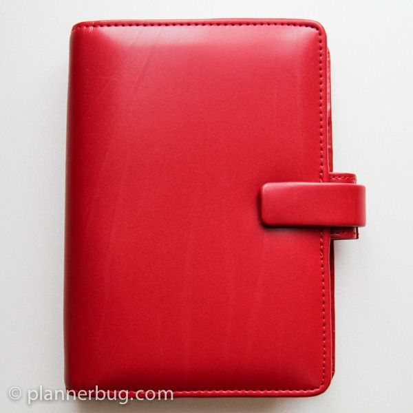 plannerbug - review of the filofax metropol personal in red