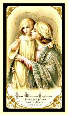 """All that truly matters in the end is that you loved.          Here is the meaning of the French words.  """"O my Mother,  my hope,  make me belong wholly to Jesus."""""""