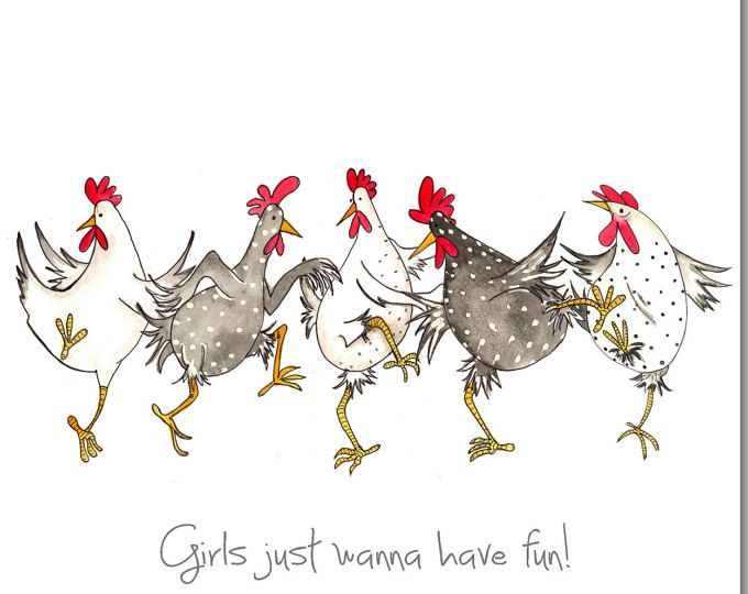 Les filles veulent juste à avoir amusante carte de voeux - drôle carte d'anniversaire de poulet