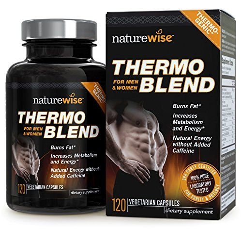 NatureWise Thermo Blend Advanced Thermogenic Fat Burner for Weight Loss and Natural Energy, 1300 mg, 60-Day Supply, 120 count