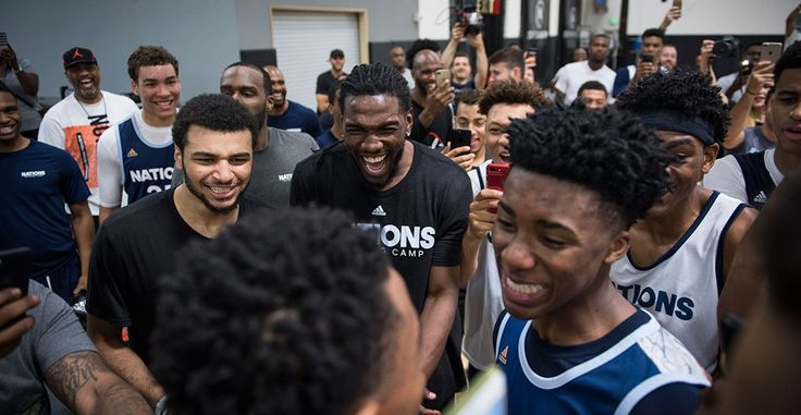 Nick Young, Jamal Murray, Kenneth Faried and Shabazz Muhammad Post up at adidas Nations
