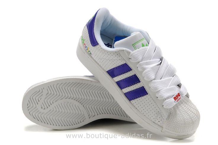 Adidas Originals Superstar Chaussures Femmes Violet Blanc Adidas Original Survetement