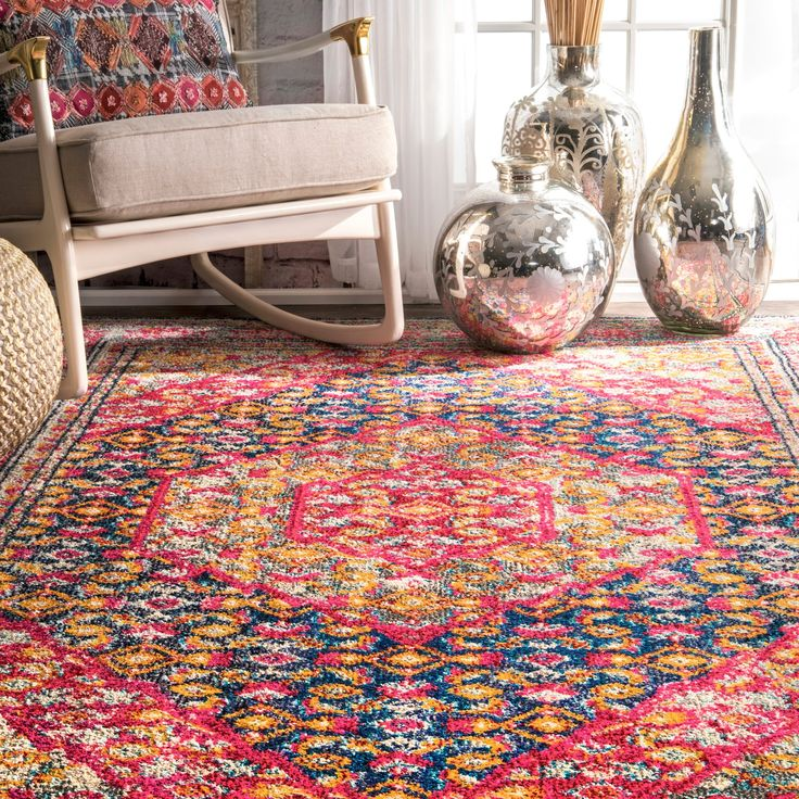 At nuLOOM, we believe that floor coverings and art should not be mutually exclusive. This machine-made 100-percent polypropylene rug features a transitional style with a modern color palette. Constructed in a durable yet soft polypropylene construction this beautiful rug will make a wonderful addition to any room. Features:• Style: Traditional, Bohemian• Material: 100% Polypropylene• Weave: Machine Made• Origin: Turkey