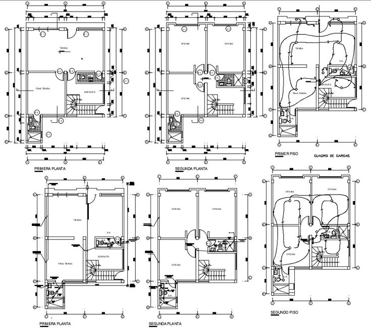 House Electrical Wiring Plan DWG File (With images