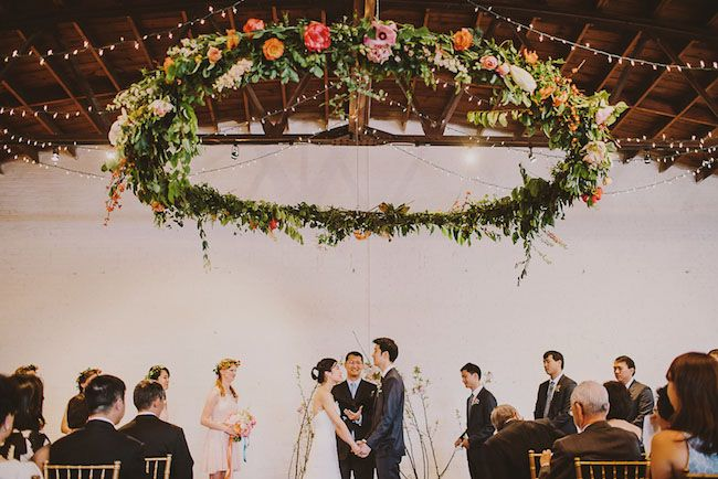 We See: Suspended Centerpieces on Borrowed