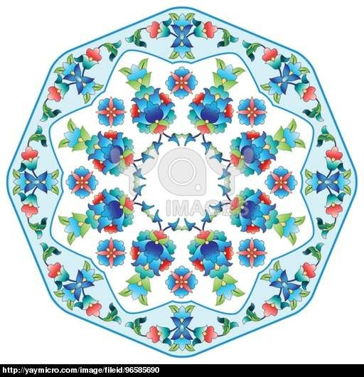 Ottoman motifs design series sixty five