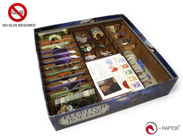 Check out our new Eldritch Horror insert: http://e-raptor.pl/en_US/p/e-Raptor-Insert-Eldritch-Horror/1197  Also, you can get upgraded tokens set for the game: http://e-raptor.pl/en_US/p/e-Raptor-Eldritch-Horror-Complete-Tokens-Set-184-psc/1179