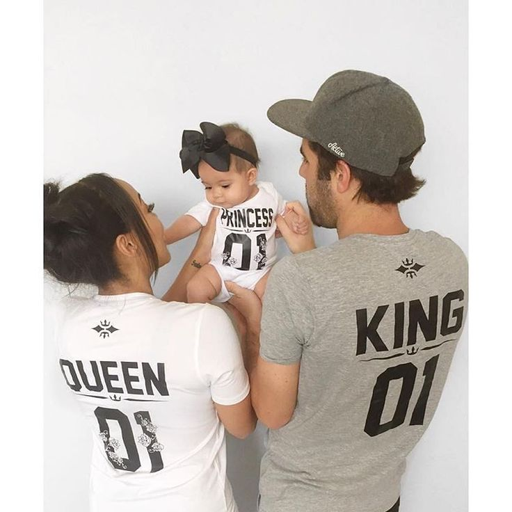 Family Goals, matching family tshirts, instagram fashion, instagram trend, Queen King Princess tshirts, King Queen Princess tshirts by sugar-army.com