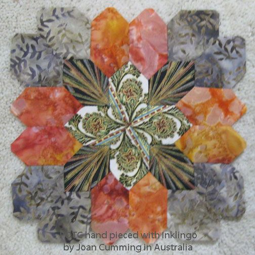 Lucy Boston Patchwork of the Crosses - Ten Advantages of Hand Piecing on the All About Inklingo blog