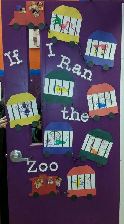 Dr. Seuss preschool door, infant door, daycare, If I Ran the Zoo