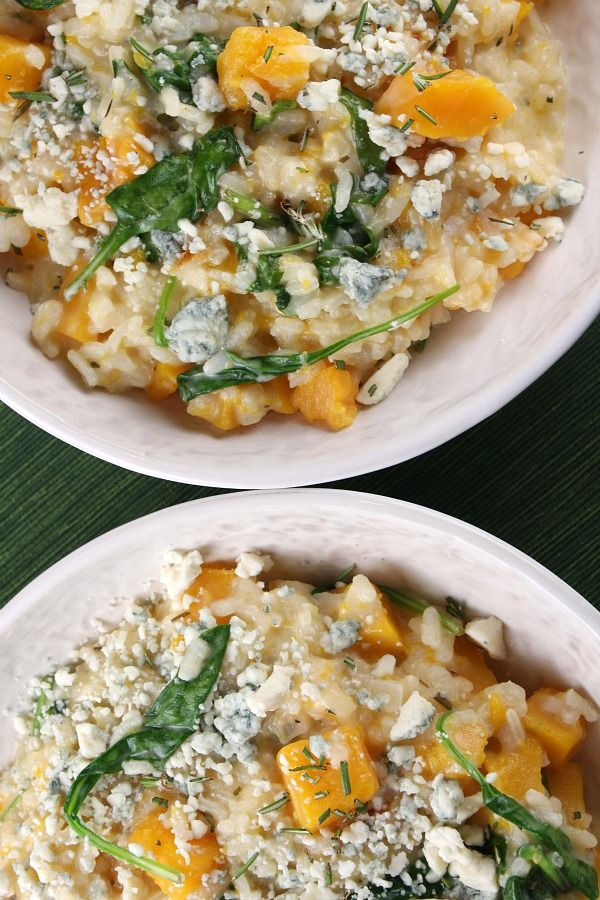 Squash Risotto with Rosemary and Blue Cheese | Risotto, Blue Cheese ...