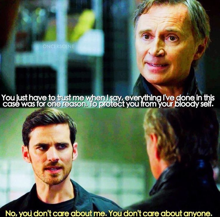 To protect you from your bloody self / Rumple & Hook / 7.07