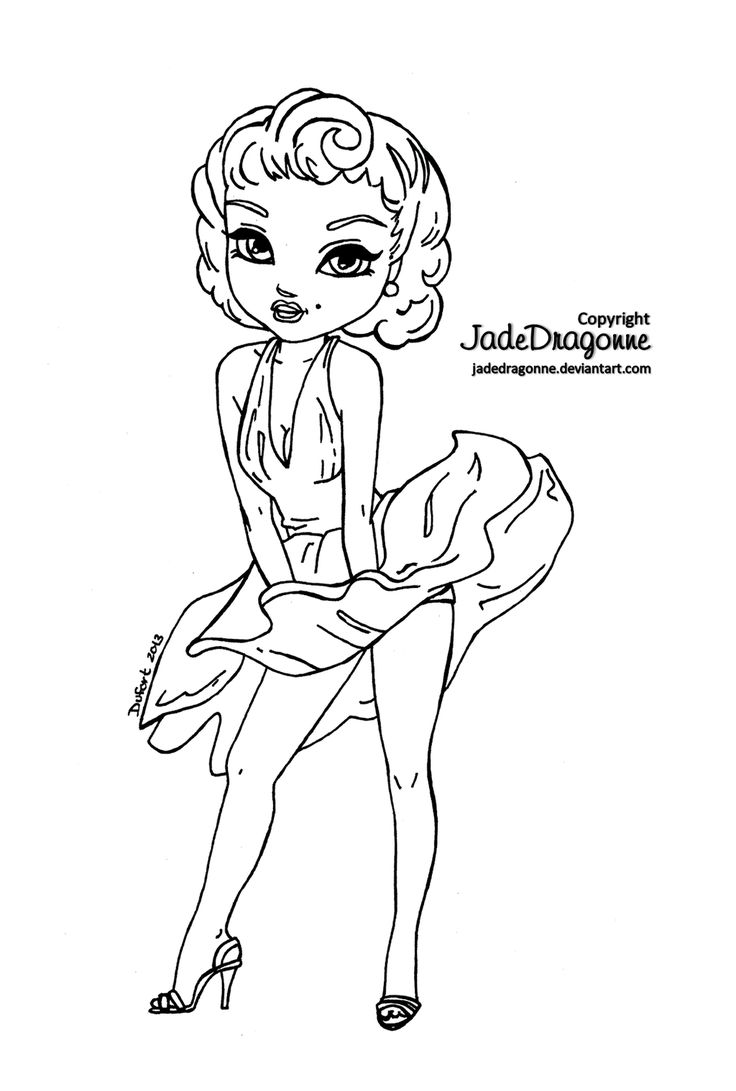 coloring pages marilyn monroe - photo#17