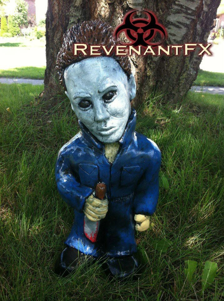 Michael Myers garden gnome
