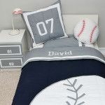 Cute baseball themed bedding