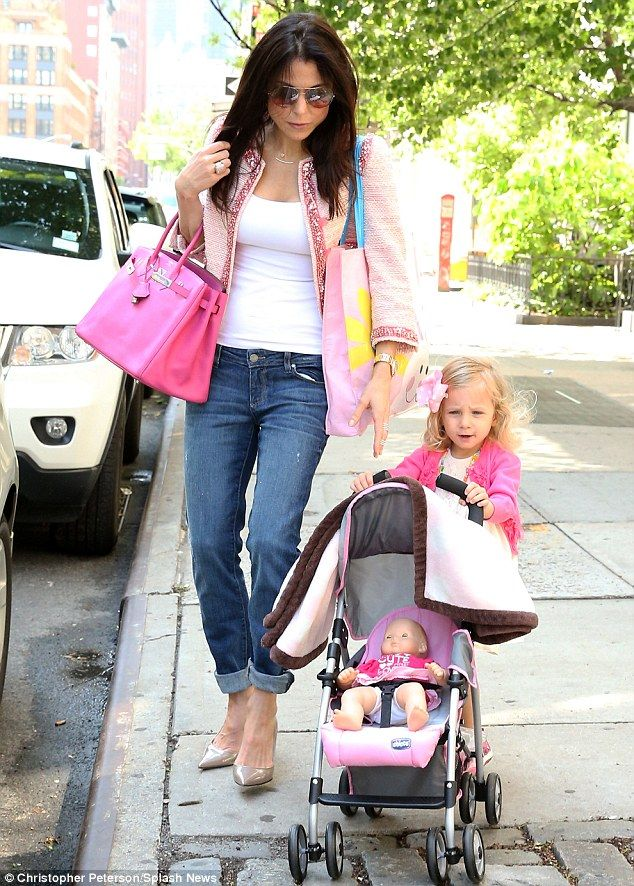 bd99c22ab8d Bethenny Frankel offers a Mother s Day smooch to daughter Bryn as they  celebrate in matching pink