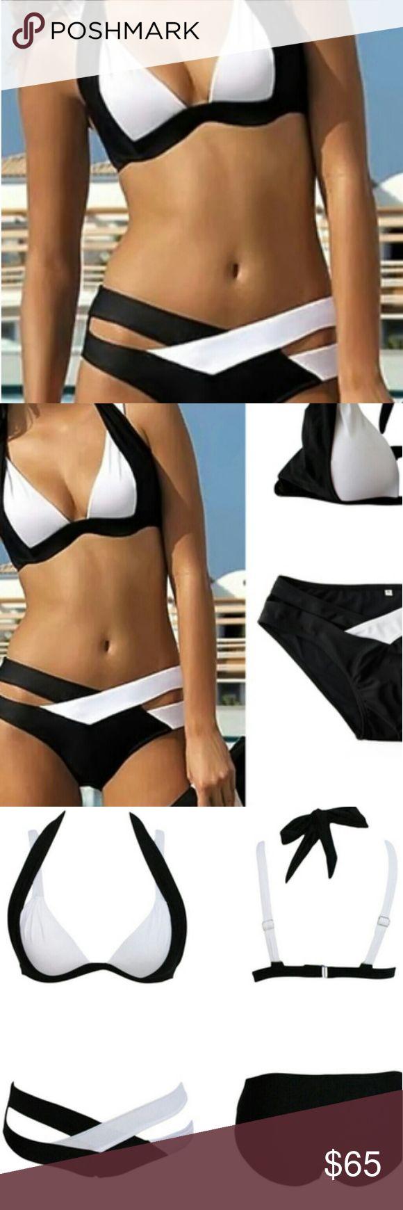 ☀️2 sizes available☀️Beautiful Bandage Bikini NIP Black and white bandage style swimsuit Swim Bikinis