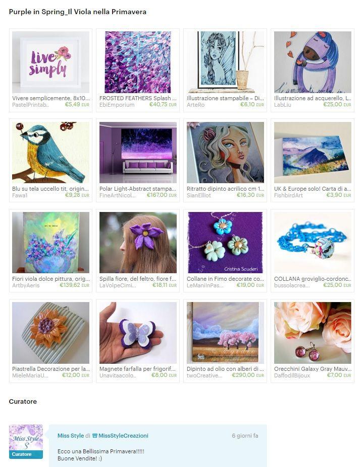 Etsy la Treasury di MissStyle, Purple in Spring, Il Viola nella Primavera