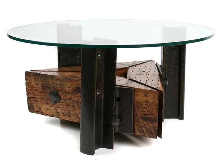 Railroad Ties And Rails U003e Coffee Table