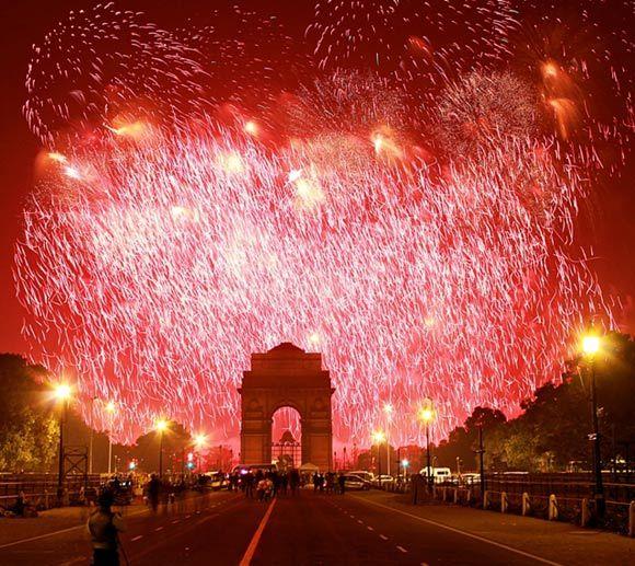 India Gate :) Diwali!