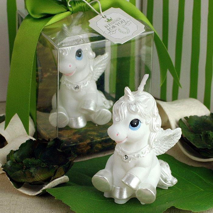 Unicorn Shaped Birthday Candle