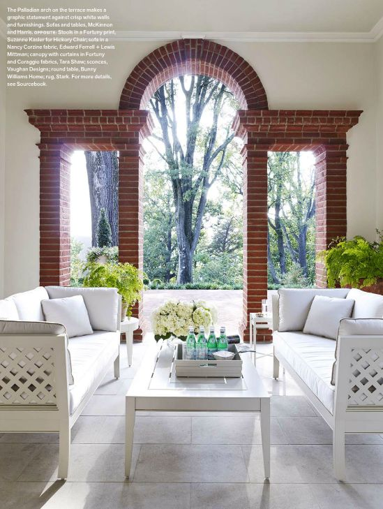 Porch Of A Suzanne Kasler Design Home In Castlebury