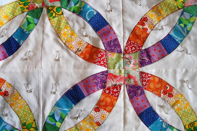 Alex S Double Wedding Ring Quilt Quilting Pinterest