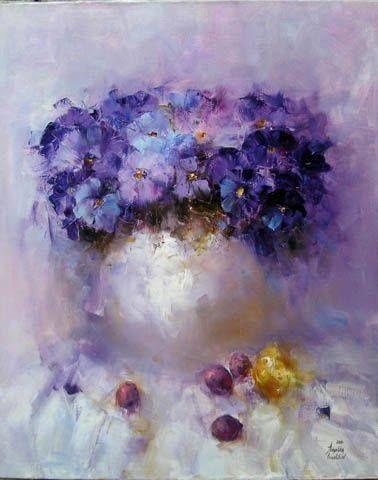 Kwiaty w wazonie.