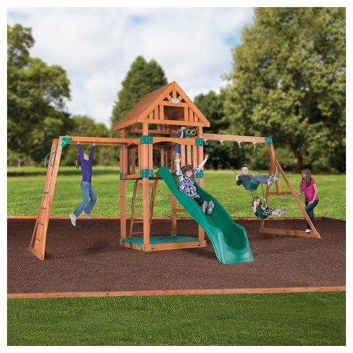 Backyard Wooden Swing Sets