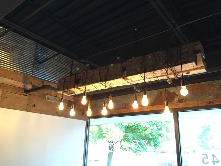 1398 best images about recycled lamp light ideas on for Diy wood beam light fixture