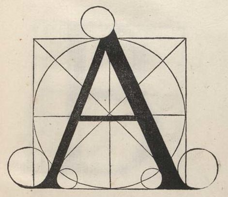 Dürer's drawings followed similar suggestions by cisalpine colleagues. Luca Pacioli, a Franciscan monk (1445-1514), showed geometrically constructed letters in 1509 in his Divina Proportione. Francesco Torniello, author of the treatise L'Alfabeto (1517), showed many similar geometric constructions.