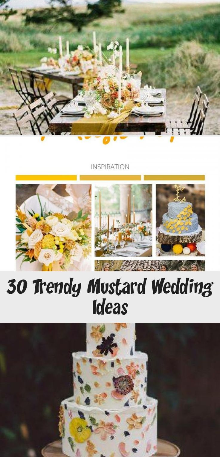 Mustard is trendy color now! If you planning mustard wedding, this post is full of bridal ideas for any season and style to inspire you. #wedding #bride #decor #mustardwedding #gardenweddingParty #gardenweddingBridesmaids #gardenweddingGown #gardenweddingSuit #gardenweddingCenterpieces